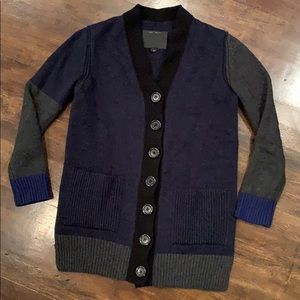 Marc Jacobs Chunky Color Block Cardigan Cashmere